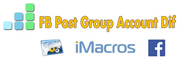 Макрос автопостинга по группам Facebook с разных аккаунтов