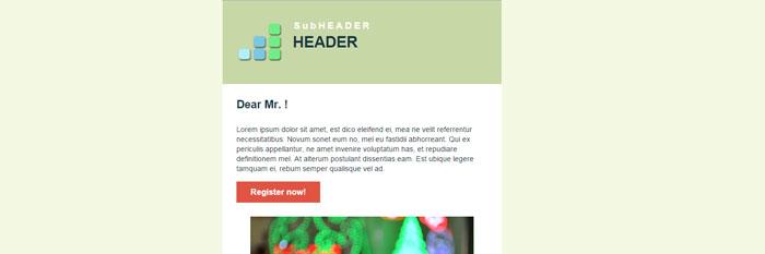 Простой HTML шаблон электронного письма, HTML e-mail + простое редактирование.
