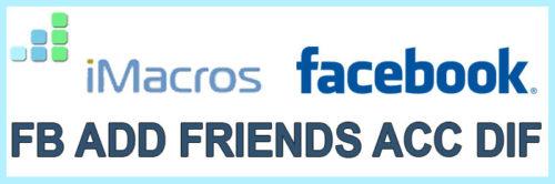 FB Add Friends Acc Dif